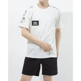 半袖機能Tシャツ HE スリーブプリントTシヤツ ULURJA57 (ホワイト)
