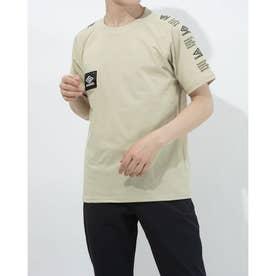 半袖機能Tシャツ HE スリーブプリントTシヤツ ULURJA57 (ベージュ)