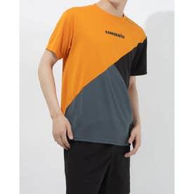 半袖機能Tシャツ HE カラーブロツクTシヤツ ULURJA59 (オレンジ)