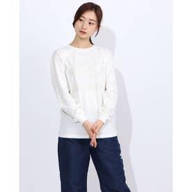 レディース 長袖機能Tシャツ WM L/Sコツトンシヤツ UMWQJB51 (ホワイト)