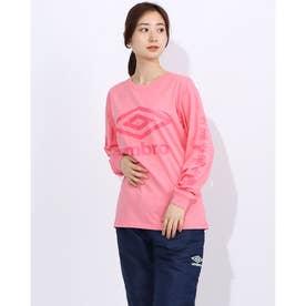 レディース 長袖機能Tシャツ WM L/Sコツトンシヤツ UMWQJB51 (ピンク)