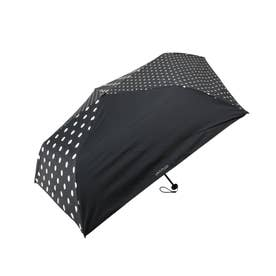 【晴雨兼用】ランダムドット折り畳み傘 (ブラック)