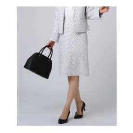 [L]ソフィアネオツイード台形スカート (ブラック)