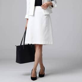 【洗える・抗菌防臭】カリーノバスケットタイトスカート (オフホワイト)