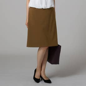 [L]【洗える】KWT Aラインスカート (ブラウン)