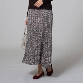 [L]【洗える】レトロリボンマーメイドスカート (ディープグレー)