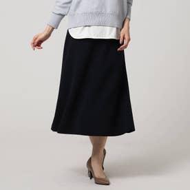 ミディ丈マーメードスカート (ネイビー)