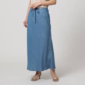 「L」セーヌデニムバイアスカットスカート (ブルー)