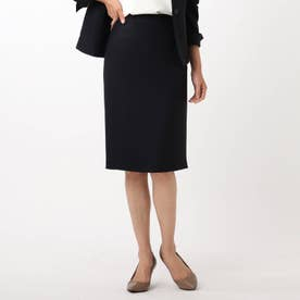 「L」【洗える・抗菌防臭】ドレッサーアーステックリネンタイトスカート (ネイビー)