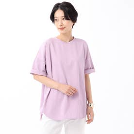 「L」【WEB限定】ハイゲージプレミアム天竺ビックTシャツ (ライトパープル)