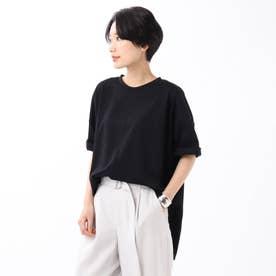 「L」【WEB限定】ハイゲージプレミアム天竺ビックTシャツ (ブラック)