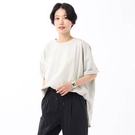 「L」【WEB限定】ハイゲージプレミアム天竺ビックTシャツ (ライトグレー)