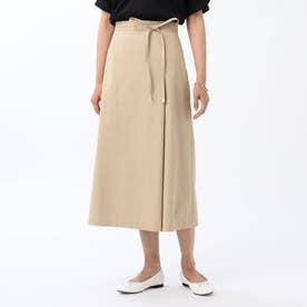 【WEB限定】ユニオンテックツイルAラインスカート (サンドベージュ)