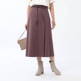 【WEB限定】ユニオンテックツイルAラインスカート (パープル)