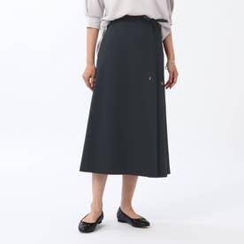 【WEB限定】ユニオンテックツイルAラインスカート (ダークネイビー)