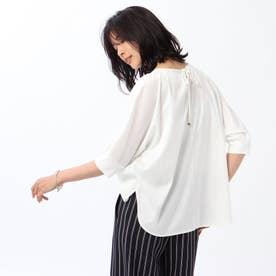 【WEB限定】異素材ドッキングドルマンカットソー (オフホワイト)
