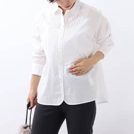 「L」ピンタックシャツ (オフホワイト)