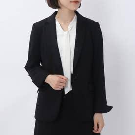 レイナジャージーテーラードジャケット【洗える・抗菌防臭】 (ブラック)