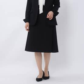 レイナジャージAラインスカート【洗える・抗菌防臭】 (ブラック)