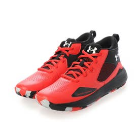 ジュニア バスケットボール シューズ UA GS Lockdown 5 SYN 3023970 (レッド)