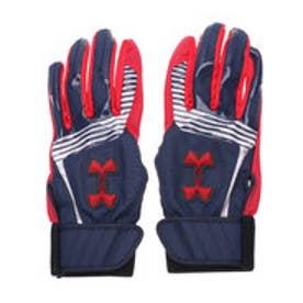 ジュニア 野球 バッティング用手袋 UA CLEANUP VII B GLOVE YOUTH 1313491 (ネイビー)