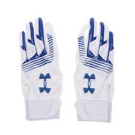 ジュニア 野球 バッティング用手袋 UA CLEANUP VII B GLOVE YOUTH 1313491 (ホワイト)