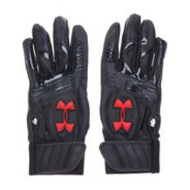 ジュニア 野球 バッティング用手袋 UA CLEANUP VII B GLOVE YOUTH 1313491 (ブラック)