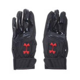 メンズ 野球 バッティング用手袋 UA CLEAN UP VII B GLOVE 1313593 (ブラック)