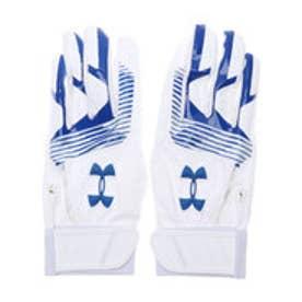 メンズ 野球 バッティング用手袋 UA CLEAN UP VII B GLOVE 1313593 (ホワイト)