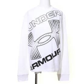 ジュニア 長袖Tシャツ UA LIVE Branded Logo LS 1364174 (ホワイト)