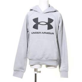 ジュニア スウェットパーカー UA Rival Fleece Hoodie 1357585 (グレー)