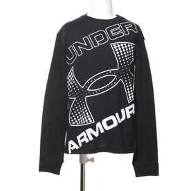 ジュニア 長袖Tシャツ UA LIVE Branded Logo LS 1364174 (ブラック)