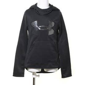 ジュニア スウェットパーカー UA Armour Fleece Big Logo Hoodie 1356428 (ブラック)