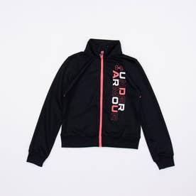 ジュニア 長袖ジャージジャケット UA Girls Track Jacket 1364233 (ブラック)