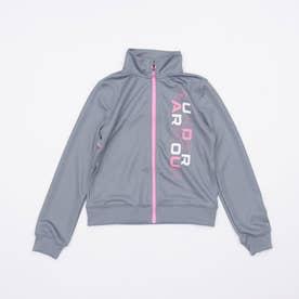 ジュニア 長袖ジャージジャケット UA Girls Track Jacket 1364233 (グレー)