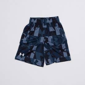 ジュニア スウェットクォーターパンツ UA Renegade 3.0 Printed Shorts 1361810 (ネイビー)