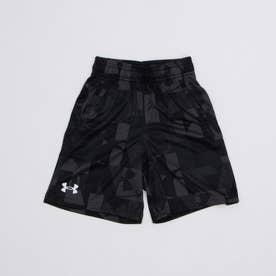 ジュニア スウェットクォーターパンツ UA Renegade 3.0 Printed Shorts 1361810 (ブラック)