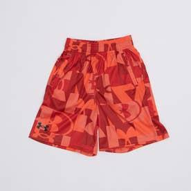 ジュニア スウェットクォーターパンツ UA Renegade 3.0 Printed Shorts 1361810 (レッド)