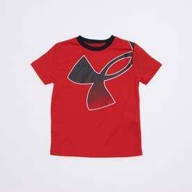 ジュニア 半袖機能Tシャツ UA Tech Splatter Symbol SS 1364226 (レッド)