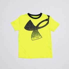 ジュニア 半袖機能Tシャツ UA Tech Splatter Symbol SS 1364226 (イエロー)