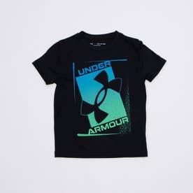 ジュニア 半袖機能Tシャツ UA Tech Print Logo SS 1364227 (ブラック)