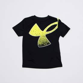 ジュニア 半袖機能Tシャツ UA Tech Splatter Symbol SS 1364226 (ブラック)