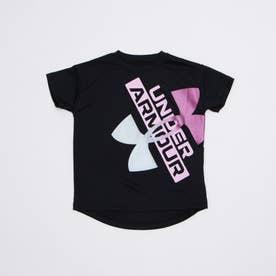 ジュニア 半袖機能Tシャツ UA Tech Graphic Logo SS 1364232 (ブラック)