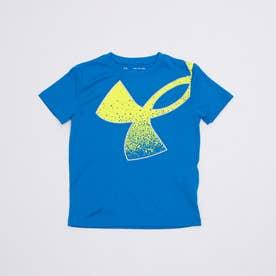 ジュニア 半袖機能Tシャツ UA Tech Splatter Symbol SS 1364226 (ブルー)