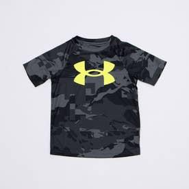 ジュニア 半袖機能Tシャツ UA Tech Big Logo Printed SS 1363278 (ブラック)