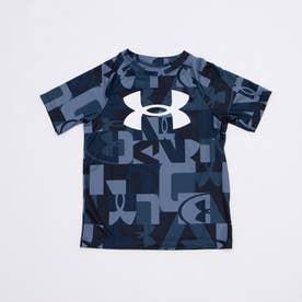 ジュニア 半袖機能Tシャツ UA Tech Big Logo Printed SS 1363278 (ネイビー)
