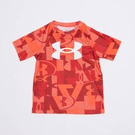 ジュニア 半袖機能Tシャツ UA Tech Big Logo Printed SS 1363278 (レッド)