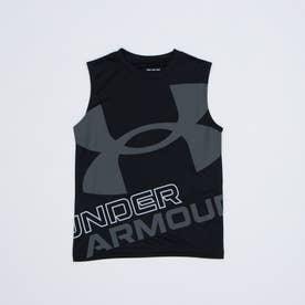 ジュニア ノースリーブ機能シャツ UA Tech Exploded Logo Sleeveless 1361822 (ブラック)
