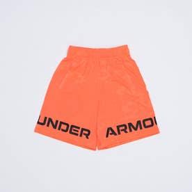 ジュニア スウェットクォーターパンツ UA Renegade 3.0 Jacquard Shorts 1361811 (レッド)