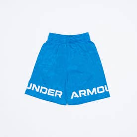 ジュニア スウェットクォーターパンツ UA Renegade 3.0 Jacquard Shorts 1361811 (ブルー)